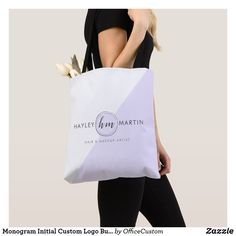 Shop Custom Logo Makeup Artist Beauty Salon Business Tote Bag created by OfficeCustom. Monogram Styles, Monogram Initials, Hair And Makeup Artist, Makeup Artists, Freelance Makeup Artist, Salon Business, Makeup Salon, Custom Logos, Edge Design