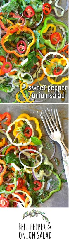 Colorful bell peppers are available all year long, so this salad is a fabulous mid-winter pick-me-up!