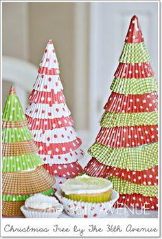 Las cosas de May: DIY MANUALIDADES Y DECORACIÓN 10 Sencillos tutoriales para hacer un arbolito de Navidad