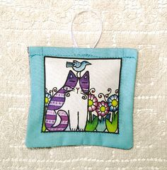 Bird Brain Garden Cat Lavender Sachet by SusanFayePetProjects, $7.00