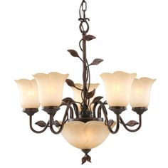 Allen + Roth Eastview 7-light Dark Oil-rubbed Bronze Chandelier Fym8115al-5