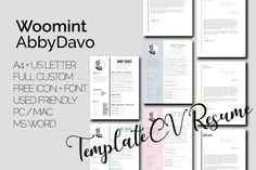 The best premium resume templates in one place by WoomintDesign Modern Resume Template, Cv Template, Resume Templates, Free Icon Fonts, Letter Icon, Curriculum Vitae Resume, Word 2, Professional Resume, Microsoft Word