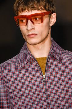 A sharp design was seen by Prada with a heavy brow and a clean cut crop made to the bottom of the frame.