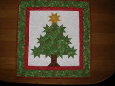 Christmas Tree Quilted Wall Hanging Christmas Tree by HollysHutch