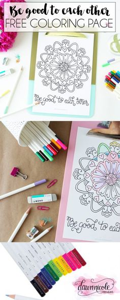 Tombow Irojiten Giveaway + Free Coloring Page | dawnnicoledesigns.com