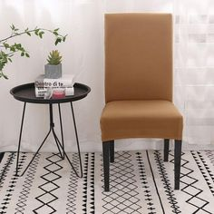 For All Chairs - Spandex Chair Cover Pieces) Dining Room Chair Covers, Dining Room Chairs, Dining Furniture, Couch Covers, Barndominium, Second Hand Chairs, Spandex Chair Covers, Stylish Chairs, Colorful Chairs