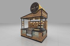 Source Solid wood coffee kiosk with bar counter coffee shop counter design for s food design Kiosk Design, Bakery Design, Restaurant Design, Signage Design, Cafe Interior Design, Cafe Design, Design Shop, Stand Design, Booth Design