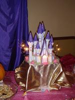 Princess Birthday Cake with food safe sparklers.