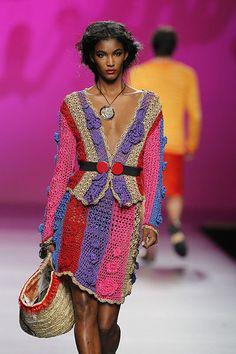 Francis Montesinos 2012 crochet dress