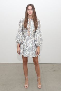 Model Gabby Westbrook-Patrick attends the Zimmermann Spring 2017 show during New York Fashion Week at Metropolitan Pavilion West on September 9, 2016 in New York City.