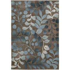 Nourison Berry Branch Rug, Brown