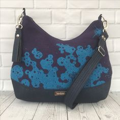 0b99981b420 Beautiful Abi bag made with  firespiral Seafoam wrap scrap and navy cork  leather Baby Wearing