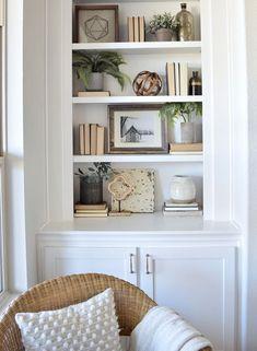 Home Tour (My Texas House) – Bookshelf Decor Styling Bookshelves, Decorating Bookshelves, Bookcases, Barrister Bookcase, Home Living Room, Living Room Decor, Living Room Accessories, Decoration Bedroom, Cheap Home Decor