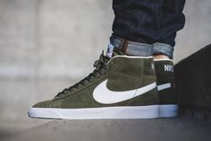5f947b6ab2 The Nike Blazer Mid Gets a Premium Green Colorway: A contemporary turn from  the previous retro releases.