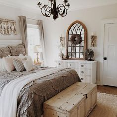Rustic Farmhouse Bedroom Ideas For A Rustic Country Home more search: farmhouse bedroom decorating ifarmhouse decorating ideas bedroom, deas, farmhouse master bedroom ideas, farmhouse style bedroom ideas, modern farmhouse bedroom ideas. Home, Bedroom Makeover, Home Bedroom, Farmhouse Style Master Bedroom, Bedroom Inspirations, Chic Bedroom, Remodel Bedroom, Shabby Chic Bedrooms, Master Bedrooms Decor