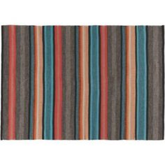 Buy Habitat Curzon Small Multi-Coloured Striped Rug - 120x180cm at Argos.co.uk - Your Online Shop for Rugs and mats.