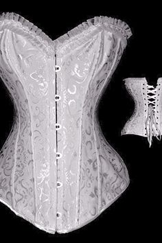 Embroidered Burlesque Corset.,7198-1-$9.20-Plus Size Corsets | IWantLingerie.com