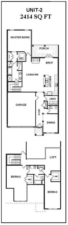 1000 images about bill beazley floor plans on for 1 story townhouse plans