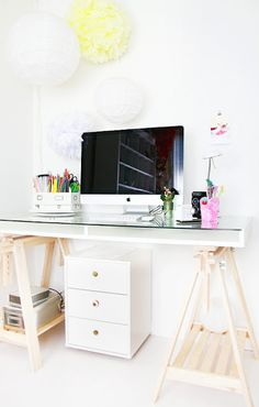 Adjustable craft desk from Heart Handmade UK: Craft Room Delights | Debee Ruiz Brightly Coloured Studio Space