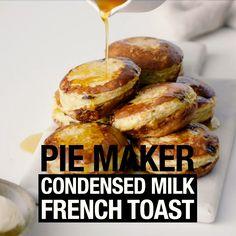 #piemaker #piemakerrecipes #frenchtoast #condensedmilk #dessert