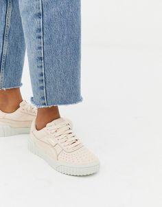 12b17a4652b4 Puma Cali Emboss cream sneakers. Athleisure FashionCream TrainersPuma ...
