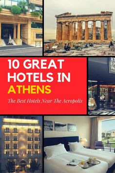 10 Great hotels near the Acropolis in Athens. If you want to stay just a few minutes walk away from the Acropolis in the heart of Athens, these hotels are just for you!