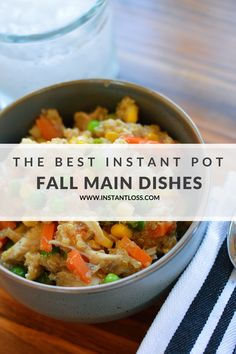 Fall Main Dishes - Instant Loss - Conveniently Cook Your Way To Weight Loss Clean Eating Recipes, Healthy Dinner Recipes, Healthy Food, Healthy Dinners, Healthy Eating, Yummy Food, Easy Pressure Cooker Recipes, Slow Cooker, Recipes For Beginners