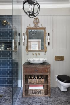 Homes & Antiques ( Interior Design London, Studio Interior, Henley On Thames, Eclectic Bathroom, Cottage Interiors, Minimalist Home, Old Houses, French Vintage, Master Bathroom