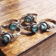 Marina - Faux Blue Topaz & Sterling Silver Ring
