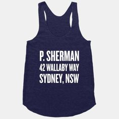 Sherman 42 Wallaby Way Sydney Racerback Tank AYThis tank top is Made To Order, we print one by one so we can control the quality. Sherman 42 Wallaby Way Sydney Racerback Tank AY. Disney Tank Tops, Disney Shirts, Disney Outfits, Disney Clothes, Disneyland Outfits, Disney Fashion, Gym Shirts, Cute Shirts, Workout Shirts