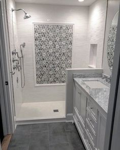 29 Popular Bathroom Shower Tile Design Ideas And Makeover. If you are looking for Bathroom Shower Tile Design Ideas And Makeover, You come to the right place. Here are the Bathroom Shower Tile Design. Bathroom Floor Tiles, Bathroom Renos, Bathroom Renovations, Bathroom Fixtures, Shower Ideas Bathroom, Remodel Bathroom, Small Bathroom Showers, Bathroom Colors, Dyi Bathroom