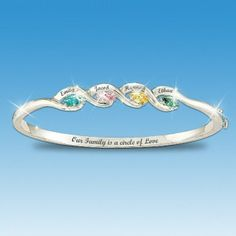 Family Birthstone Bracelet Love The Quote Inside Our Is A Circle Of