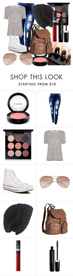 """Darker Spring"" by maralf-1 on Polyvore featuring MAC Cosmetics, T By Alexander Wang, Converse, H&M, Laundromat, NARS Cosmetics and Marc Jacobs"
