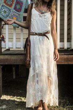 Looks robe longue blanche