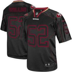 Nike Elite Youth San Francisco 49ers http://#52 Patrick Willis Lights Out Black NFL Jersey$79.99