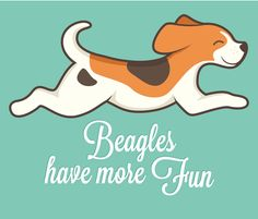 Beagles have more fun fabric by cross_the_lime on Spoonflower - custom fabric
