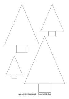 Semi Handmade Christmas Ornaments Papier Machen Triangle Tree Coloring Page