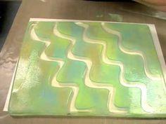 Gelli Plate via Ten Seconds Studio - use molds on gelli plate