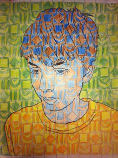 Chuck close inspired portraits. I love these portraits and my students creative…