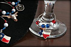 Texas Wine Charms by MeDayTreasures on Etsy, $16.00