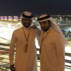 Nasser & Ahmed at Bahrain car racing event