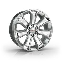 Sierra 1500 22 inch Wheels, Silver, CK163 SF1: Personalize your Sierra with these 22-Inch Chrome Accessory Wheels.