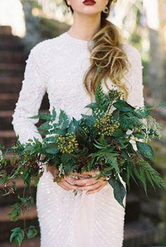 Изумрудная сказка: 50 свадебных фотоидей, букет невесты - The-wedding.ru