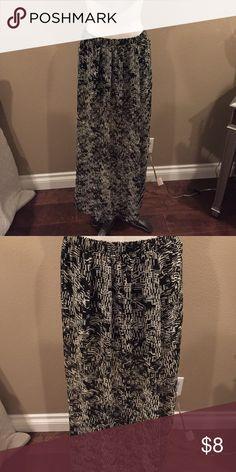 Maxi skirt Black and white maxi skirt Skirts Maxi