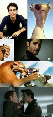 Teenwolf #Sterek Derek & Stiles Ice age Diego & Sid