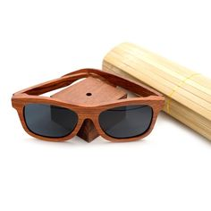 10028ada87 BOBO BIRD Red Wood Sunglasses Women Men Luxury Brand Designer Polarized  Beach Gafas De Sol with