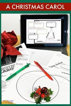 """If you're reading the play version of """"A Christmas Carol"""" with your middle school students, then use this resource to help you examine the plot structure, character traits and the theme with discussion questions, scaffolded notes and more! Printable and Digital, this resource is easy to use and ready to go! Muppets Christmas, Christmas Carol, Reading Lessons, Reading Skills, Christmas Activities, Christmas Traditions, Middle School Reading, Unit Plan, Literature Books"""