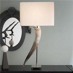 Long Horn Table Lamp
