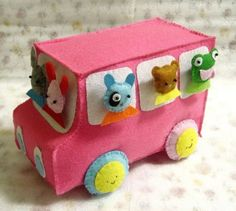 "All I can say is ""SQUEEEEE!"" Felt Bus by ohmycake is the pinnacle of cuteness."