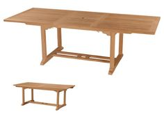 """Bahama 8-Foot Rectangular Extension Table - This solid Teak """"Rectangle Extension Table"""" makes the perfect addition to your Patio or Backyard. The unique built-in butterfly pop-up leaf enables you to open and close your table in less than 15 seconds. The leaf folds away for easy storage. This table stands 29"""" high and is 35""""width x 71"""" opening to 94"""". Seats 10 to 12 people. Available with or without umbrella hole. After all, it is perfect for your party family and friends gathering. Anderson…"""